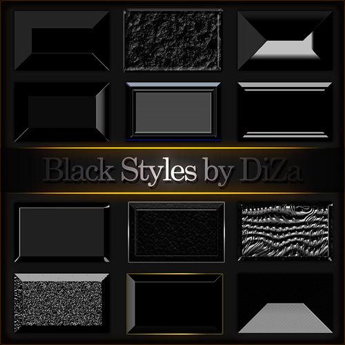 Black styles for Photoshop - Черные стили для фотошопа