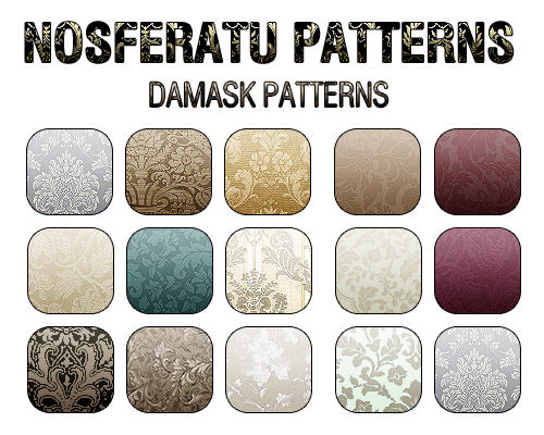 Damask Patterns for Photoshop