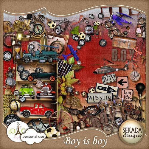 Скрап-набор «Boy is boy»