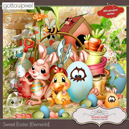 Скрап-набор «Swееt Easter» - «Сладкая Пасха»