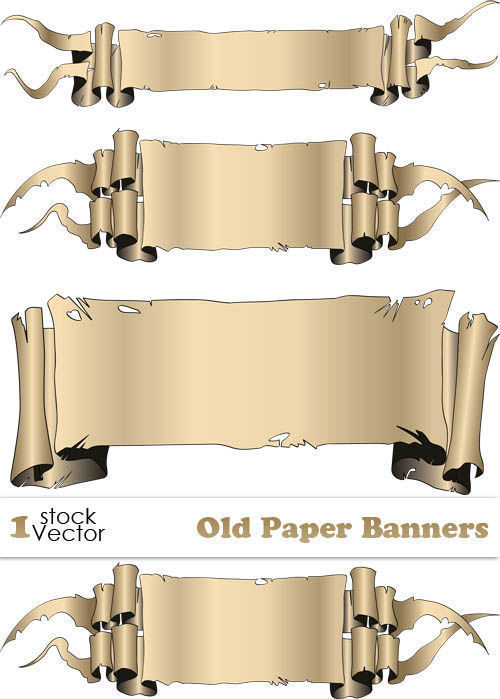 Stock vector Old paper banners
