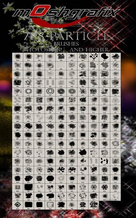 788 Particle brushes photoshop and higher. Мегасборка из 788 хаотичных и уз ...