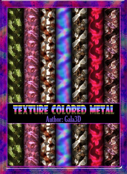 Texture colored metal. Текстура цветных металлов