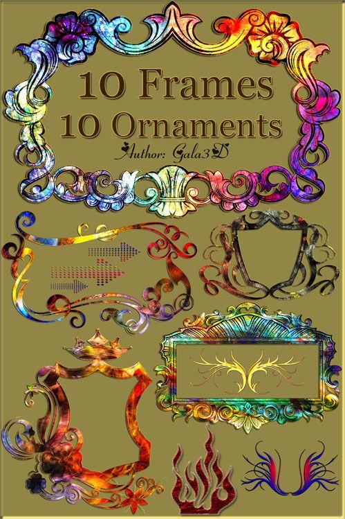 10 высококачественных изысканных рамок и 10 высококачественных украшений дл ...