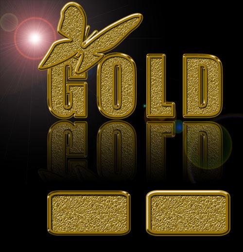 Gold styles for Photoshop. Набор изысканных золотых стилей для фотошопа