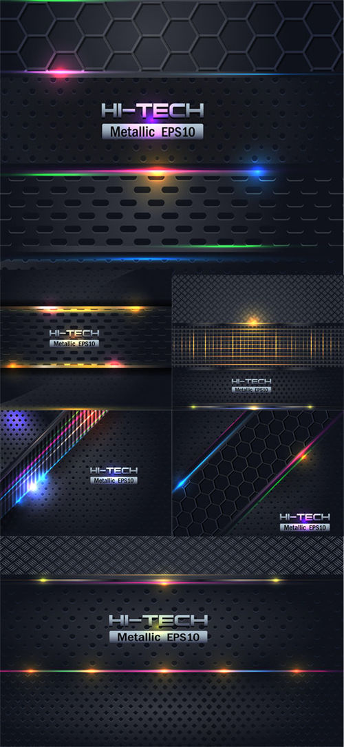 Vector clipart: Abstract metallic background