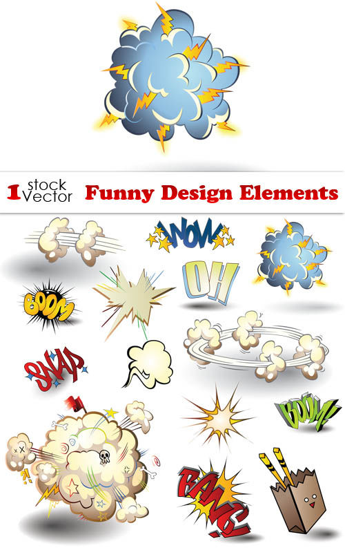 Funny Design Elements Vector