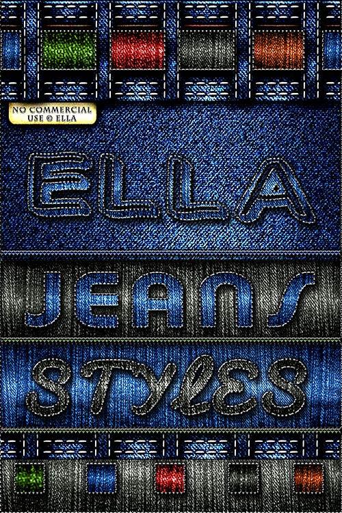 Джинсовые стили для Фотошоп. Jeans styles for photoshop