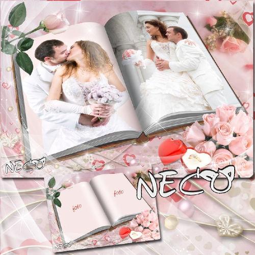 Изысканная рамка для оформления свадебных фотографий