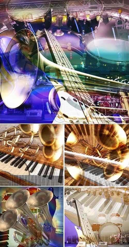 Пять высококачественных стильных и креативных музыкальных фонов