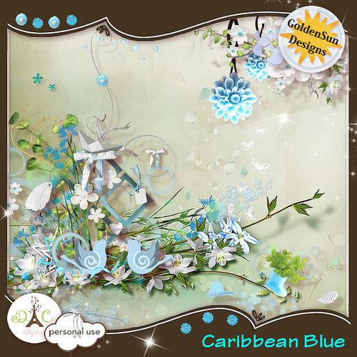 Скрап-набор Caribbean Blue