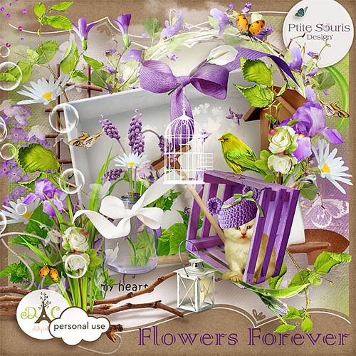 Скрап-набор  Flowers Forever