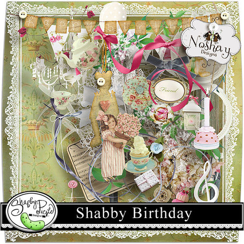 Скрап-набор Shabby Birthday