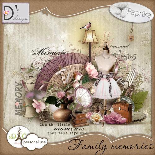 Скрап-набор Family Memories