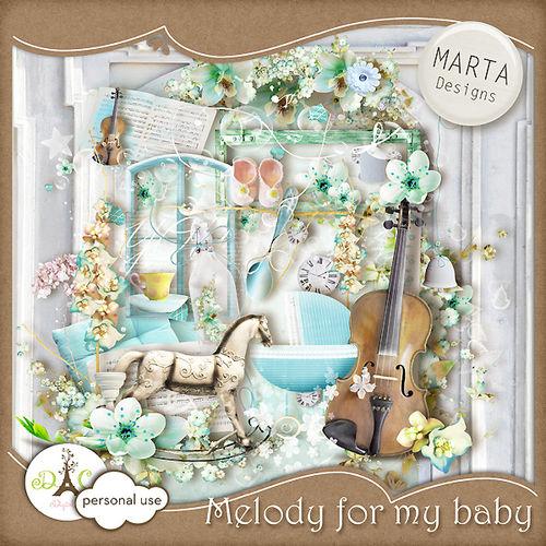 Нежный детский скрап-набор - Мелодия для моей малышки