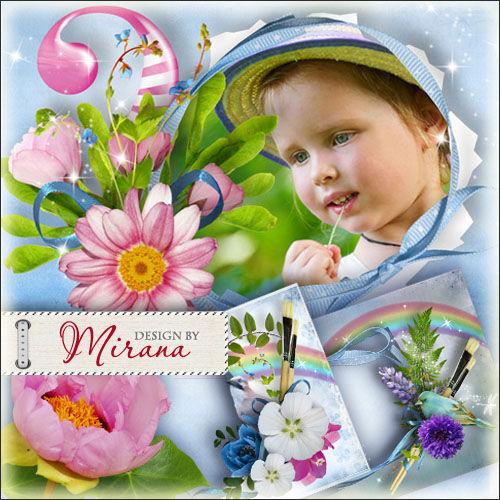 Коллекция детских рамок для фото - Нарисуй мне весну