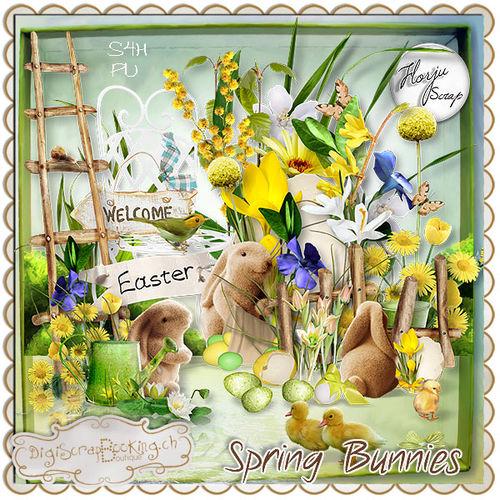 Скрап-набор Spring Bunnies