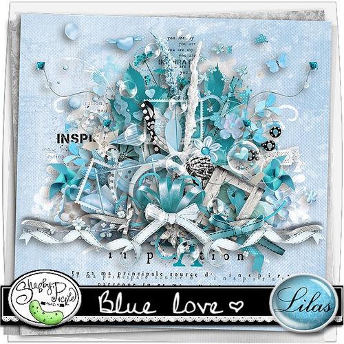 Скрап-набор Blue love