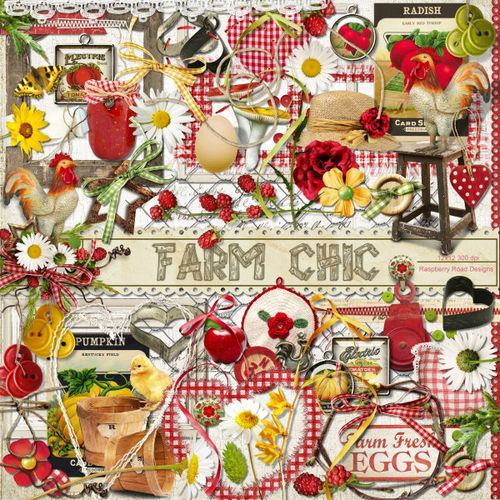 Скрап-набор Farm Chic Two