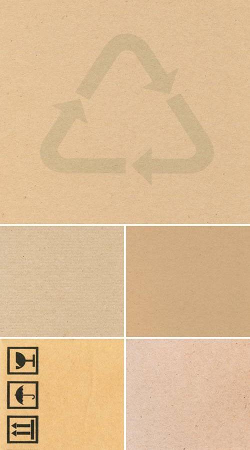 Набор из 5-ти высококачественных текстур упаковочного картона