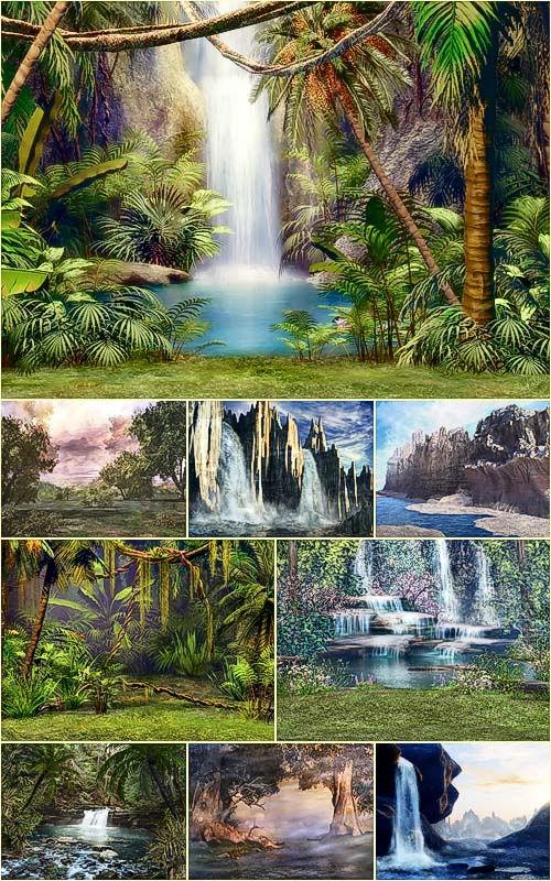 Nature Fantasy backgrounds - Фантастические фоны природы