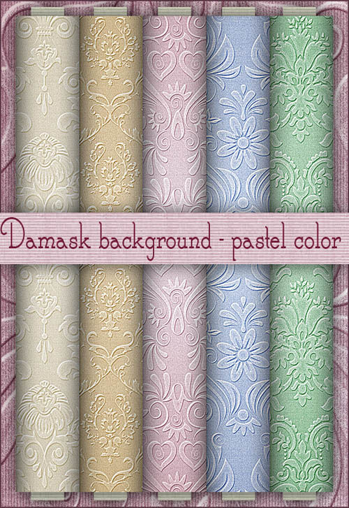 Damask background - pastel color