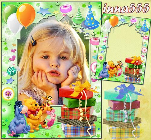 Очаровательная детская рамочка для оформления фотографий