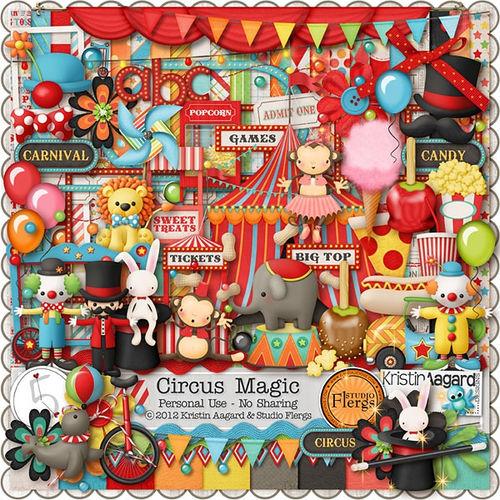 Скрап-набор Circus Magic