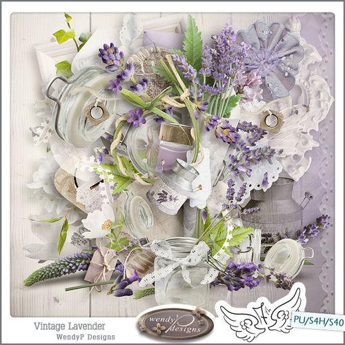 Скрап-набор Vintage Lavender