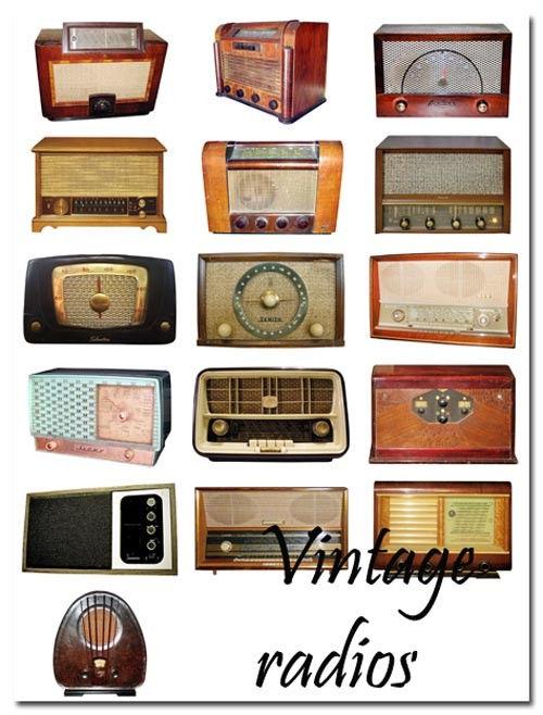 Коллекция PSD Старые радиоприемники