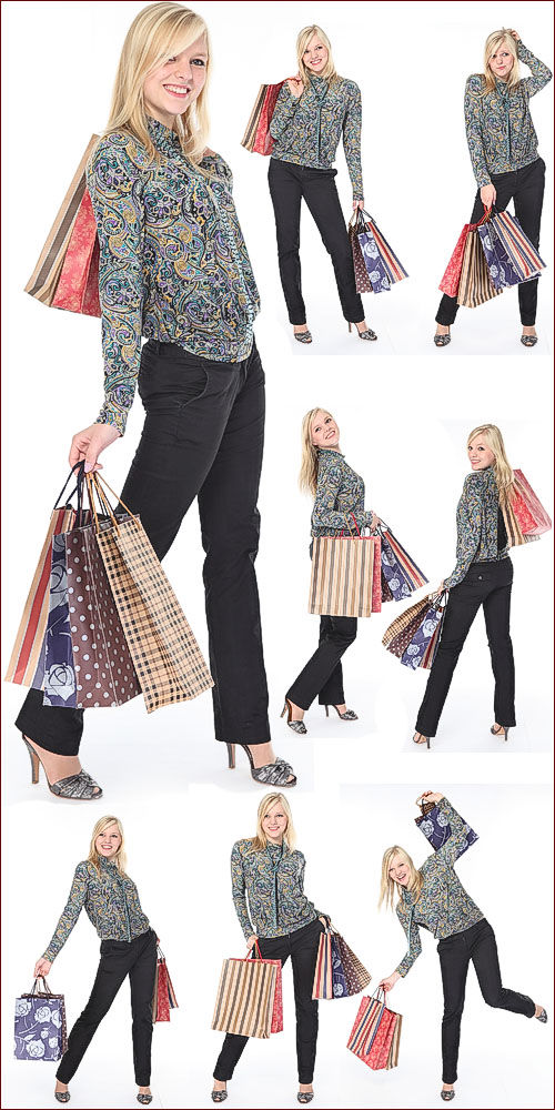 Photostock - Girl with shopping
