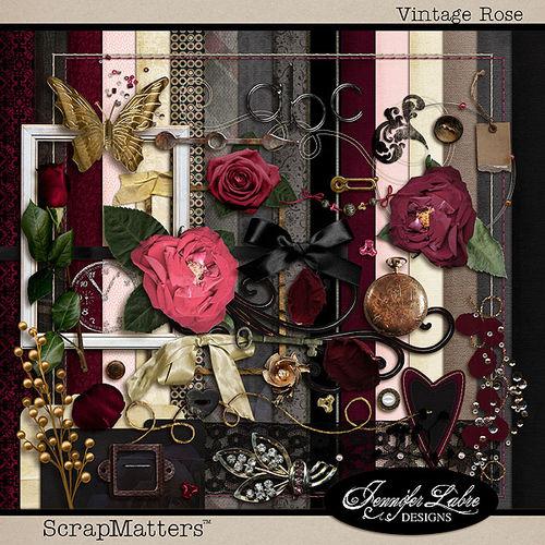 Скрап-набор Vintage Rose