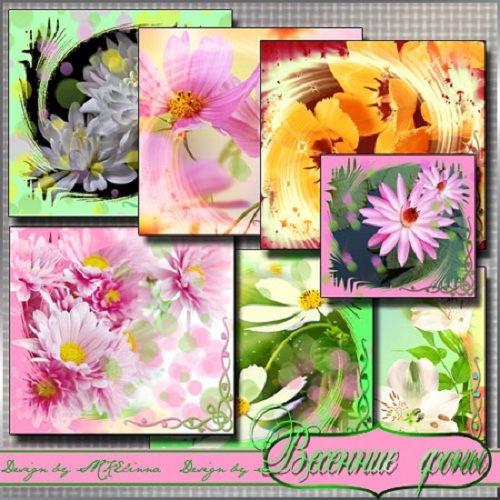 Весенние цветочные фоны