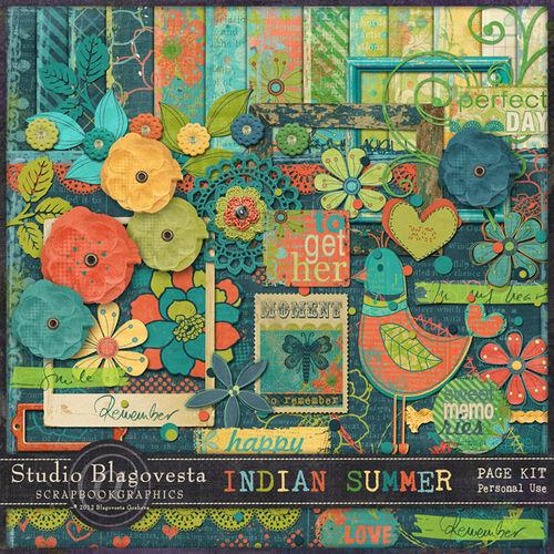 Скрап-набор - Indian summer