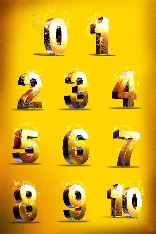 Многослойный PSD Одиннадцать цифр