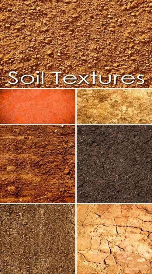 Текстуры различных типов почв
