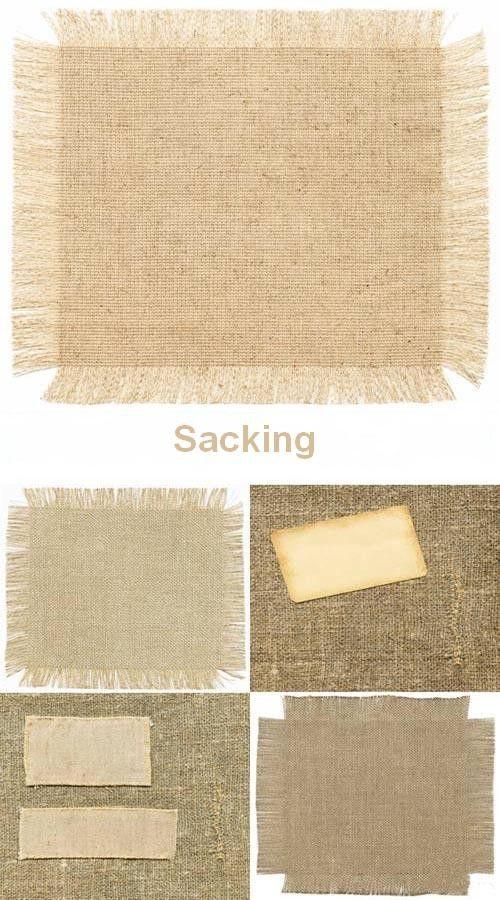 Набор высококачественных текстур мешковины различной плотности