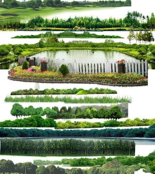 Коллекция пейзажей панорамного типа в PSD