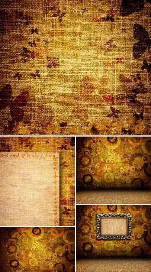 Коллекция высококачественных винтажных фонов с бабочками