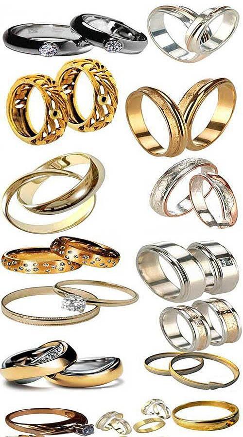 Коллекция свадебных колец в PSD