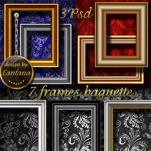 Многослойные рамки багеты на текстурных фонах