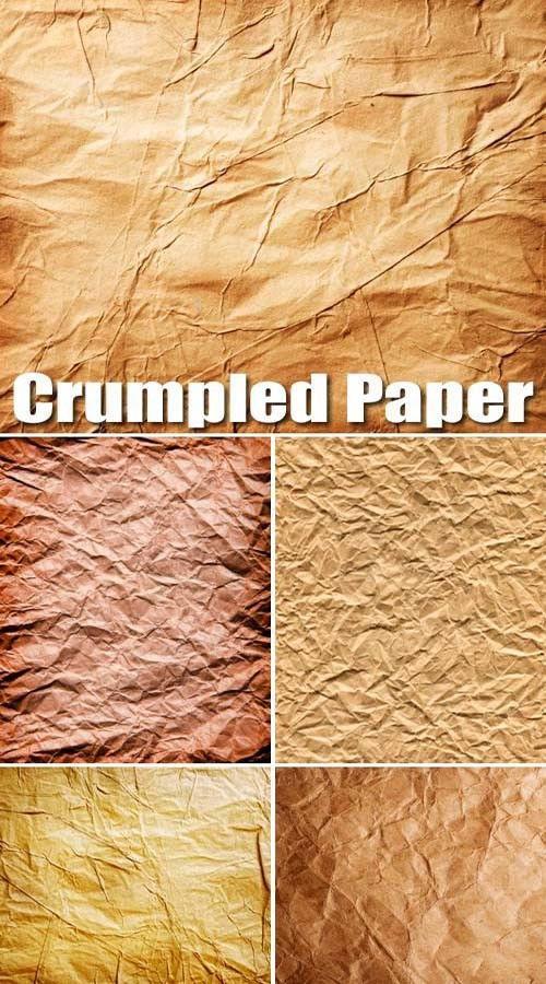 Высококачественные текстуры старой смятой бумаги