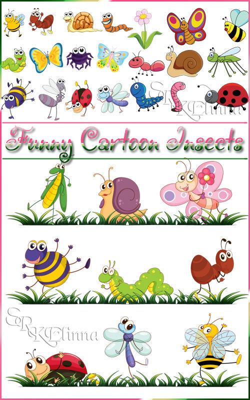 Смешные насекомые из мультфильмов - Funny Cartoon Insects