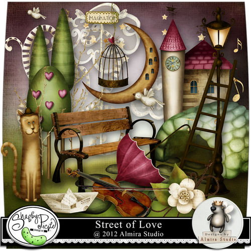 Скрап-набор Street Of Love