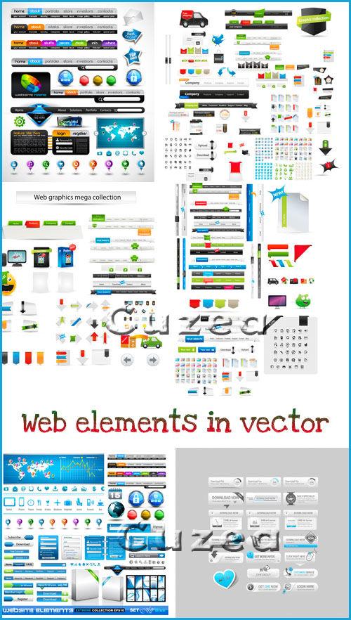 Элементы для web-дизайна в векторе