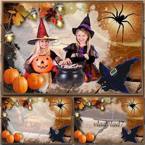 Детская фоторамка к празднику Хэллоуин