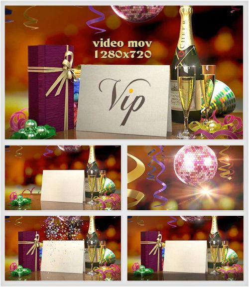 Новогодние футажи HD - Праздничное поздравление