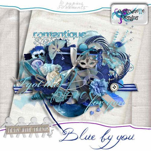 Скрап-набор Blue by you - Синева