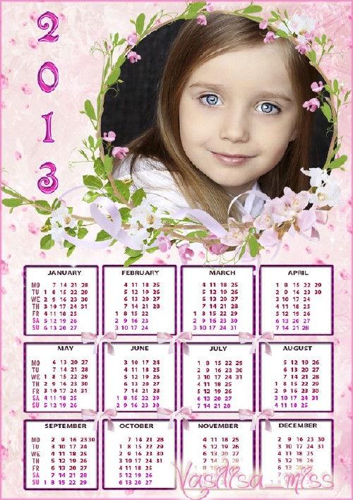 Красивый календарь-рамка