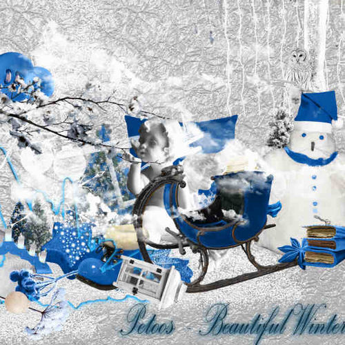 Скрап-набор Красавица зима - Beautful Winter